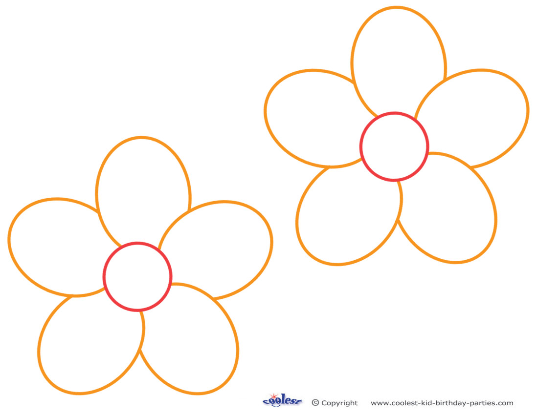 Flower Templates For Kids