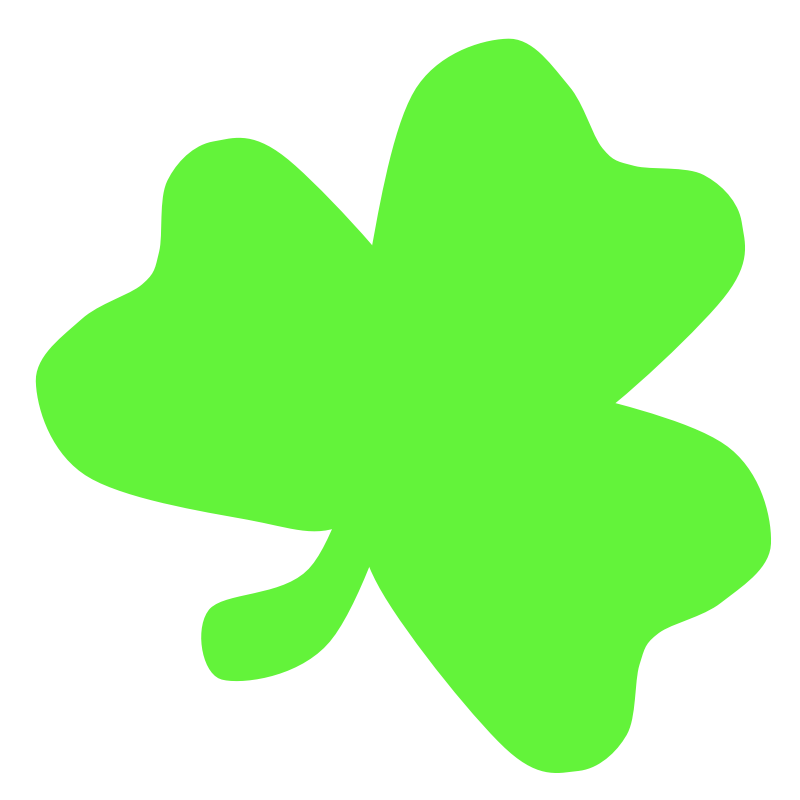 Clipart - Light Green Shamrock