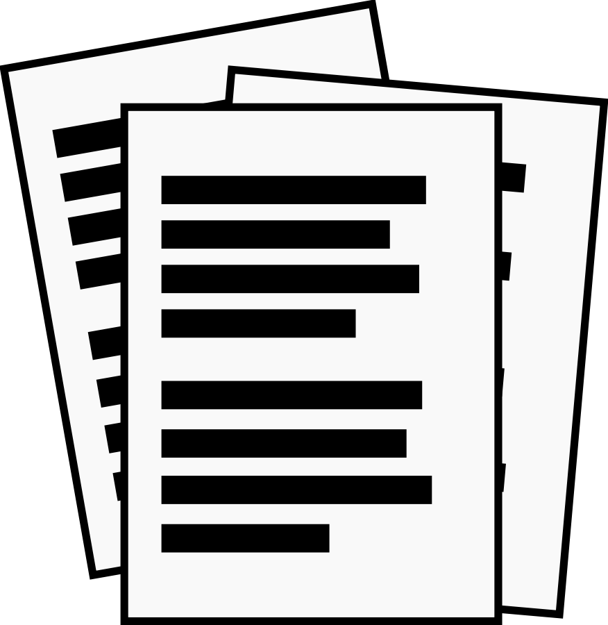 clipart of documents - photo #3