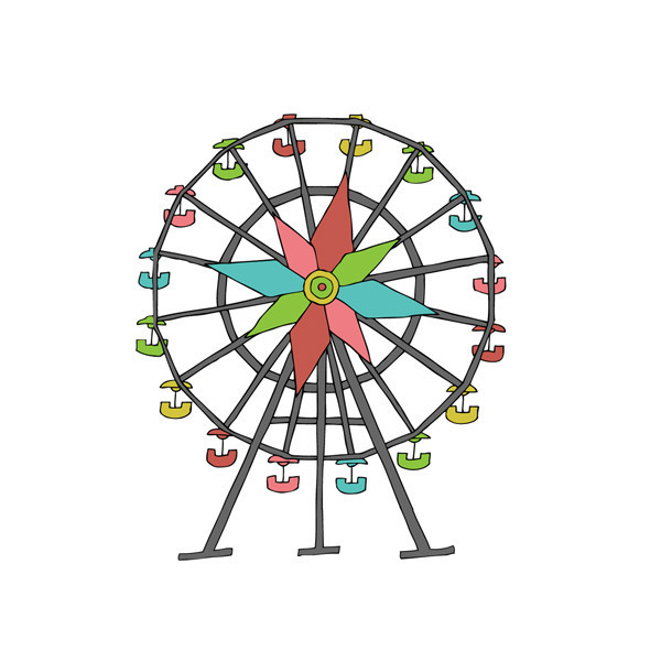 Pix For > Simple Ferris Wheel Clipart - Cliparts.co