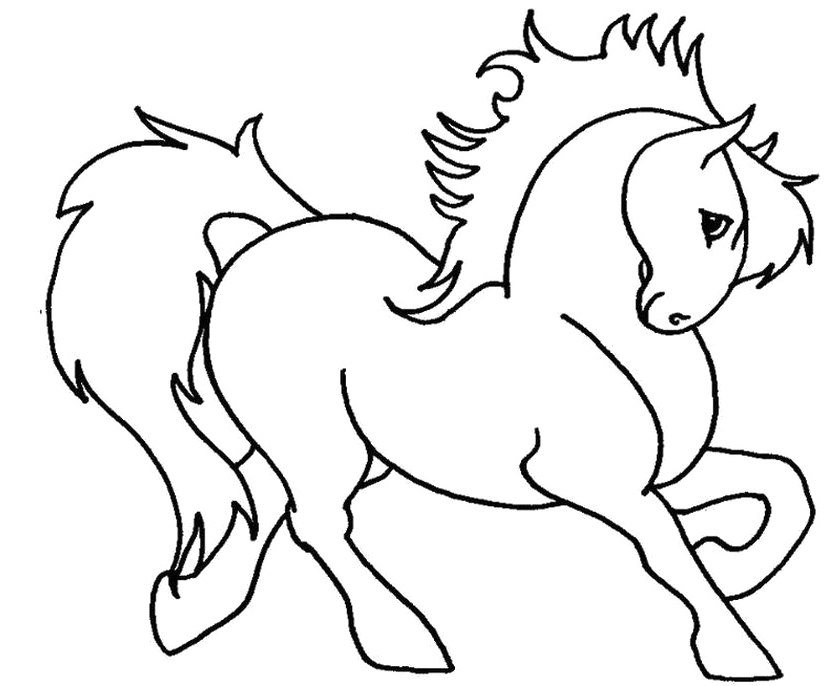 coloring pages horses running-#46