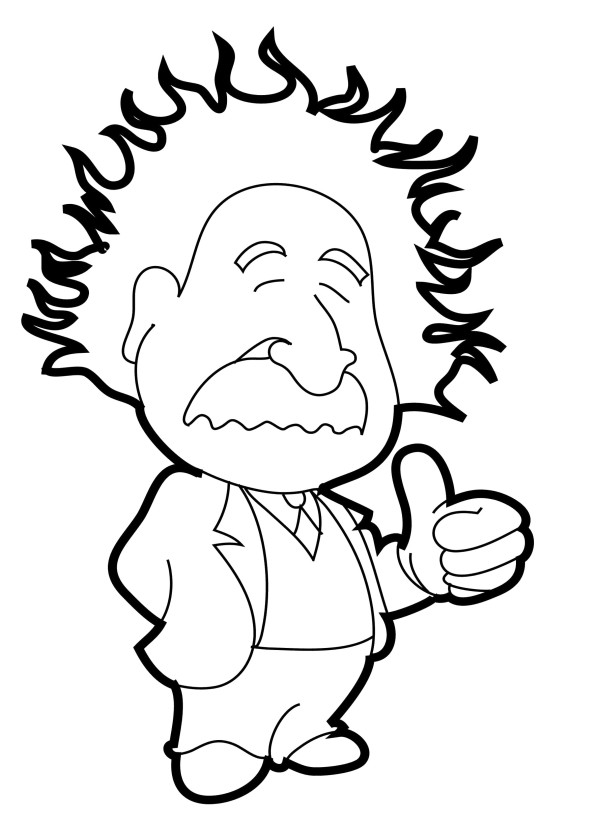 Einstein Cartoon Images Cliparts Co Albert Einstein Coloring Pages