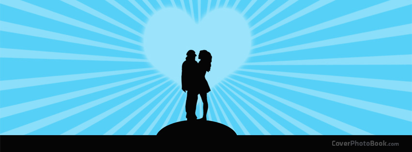 Man Woman Love Silhouette Facebook Cover - Love