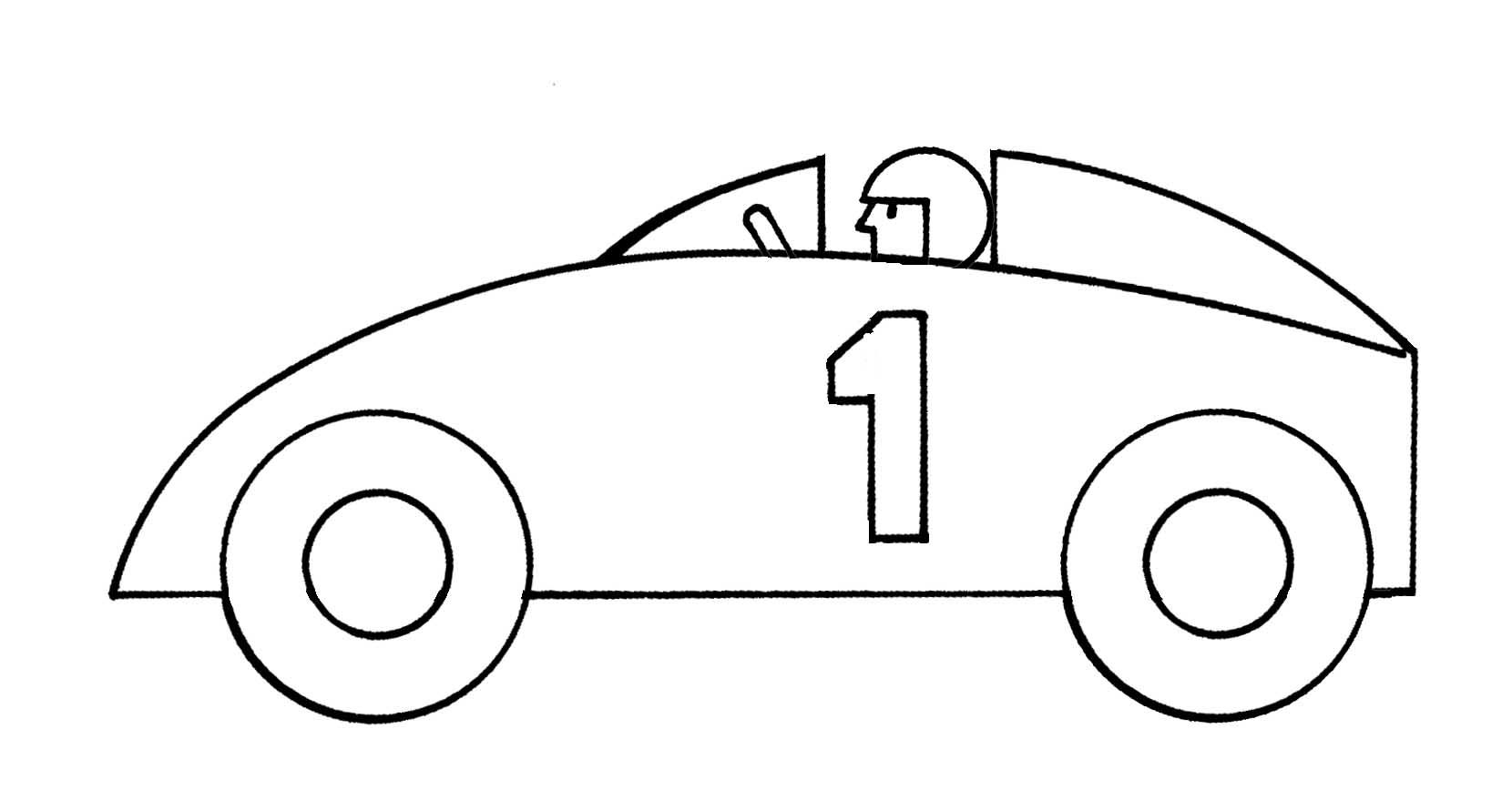 Race Car Clipart For Kids  Race Car Clipart Black And White