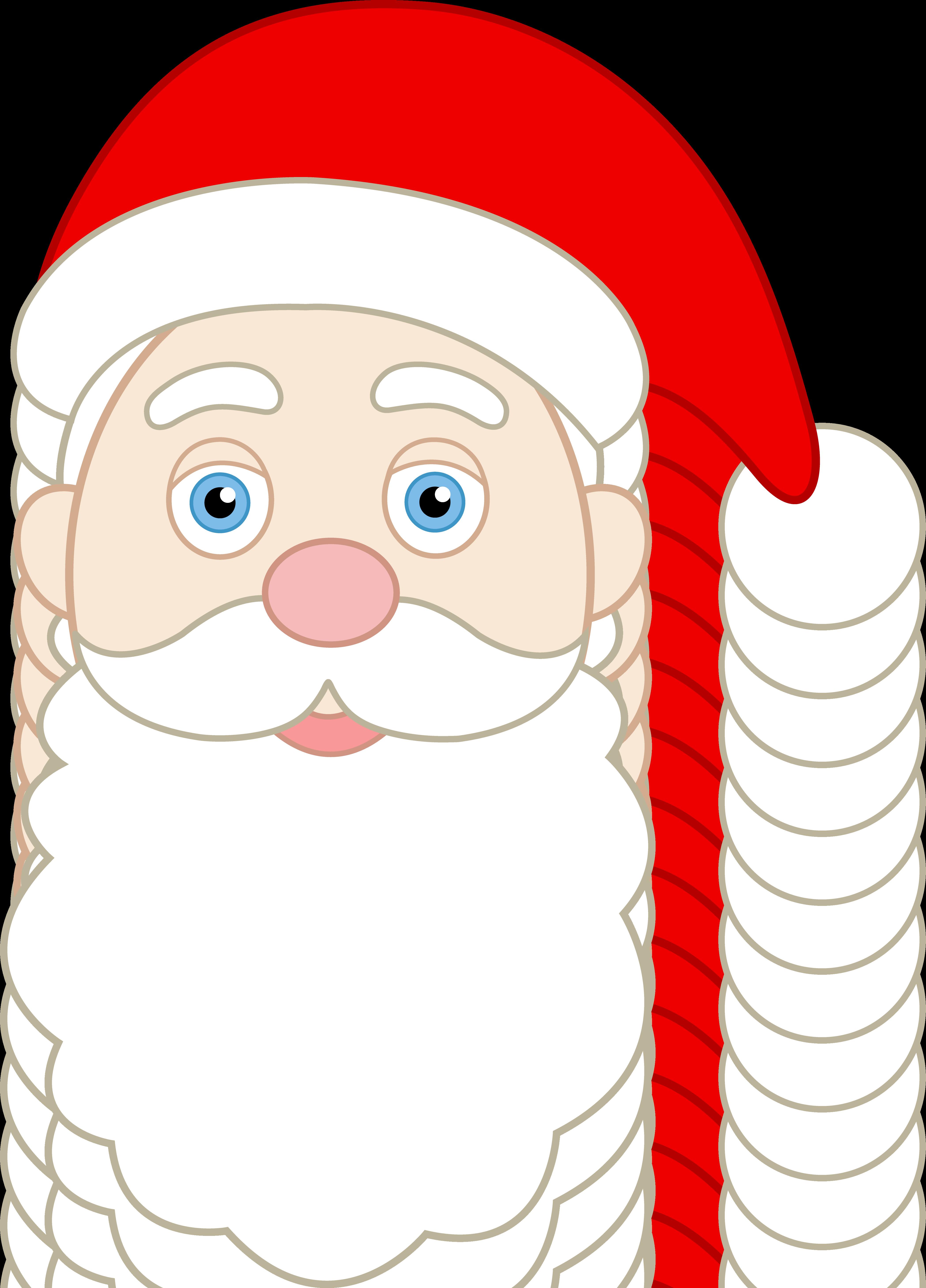 Cartoon Santa Face - Cliparts.co