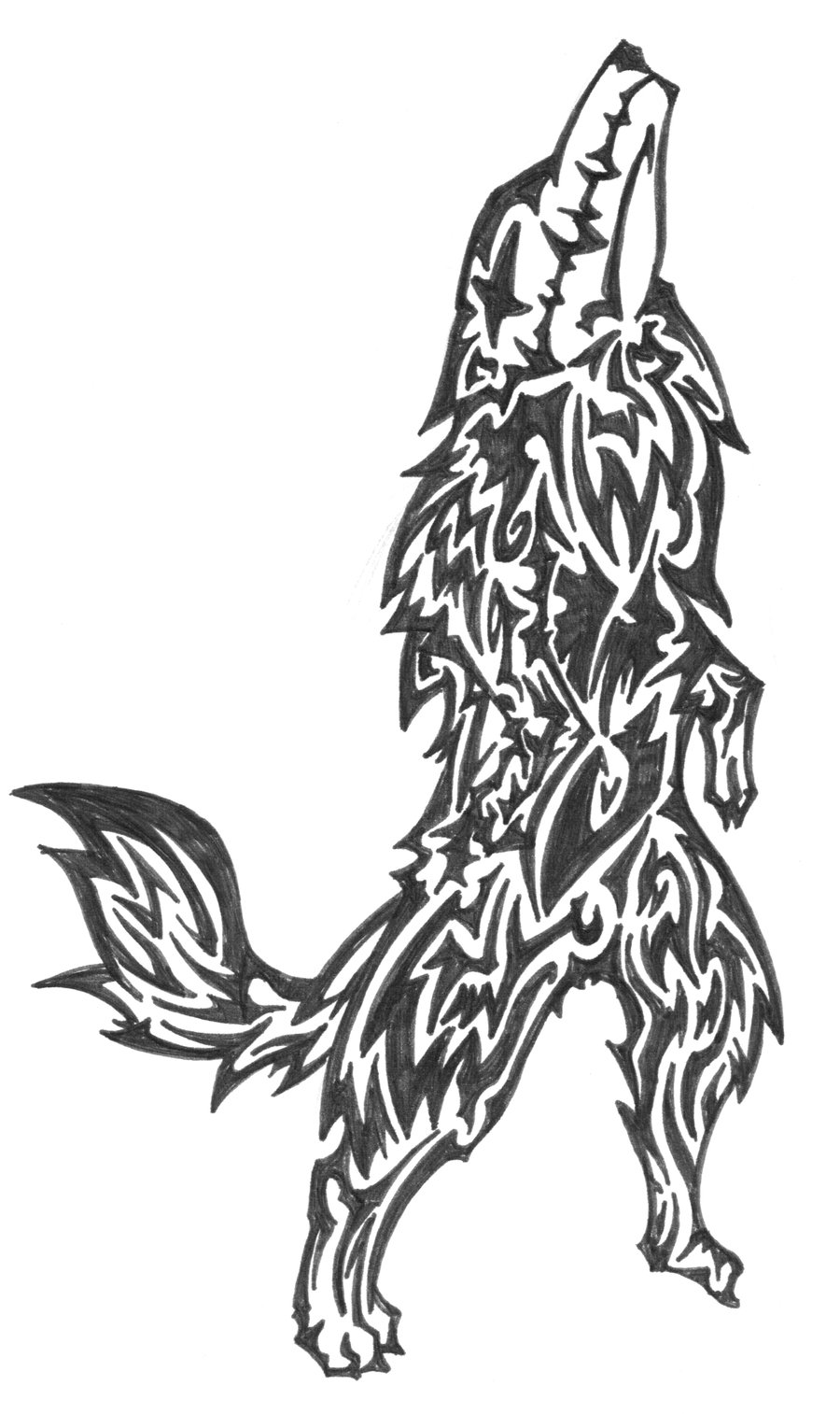 Wolf tattoo design black and white wolf tattoo design art flash - Design art black and white ...
