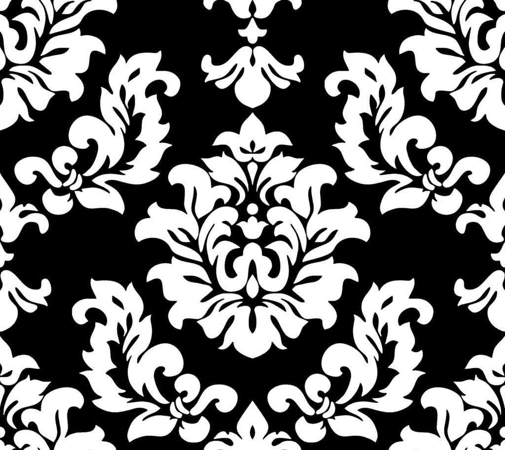 Black damask background - Design art black and white ...