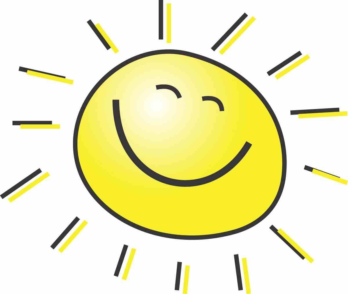 happy sun images clipartsco