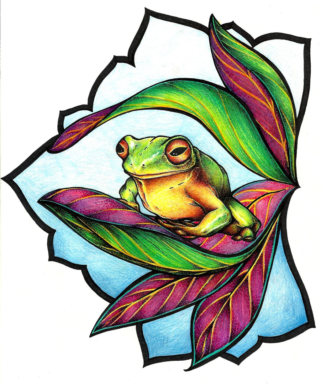 frog tattoo design by mijazaszka on deviantART