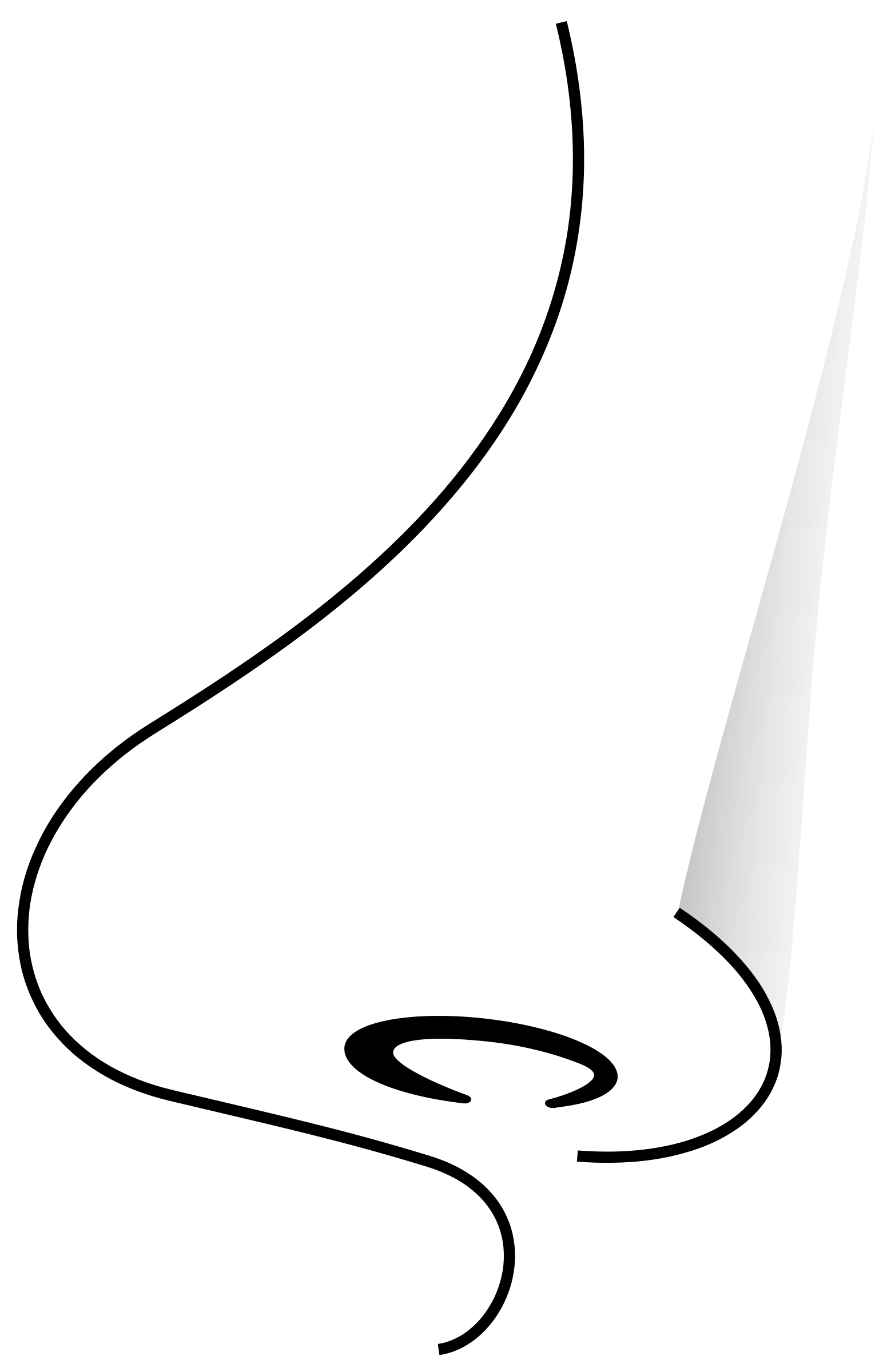 nose clipart black and white - photo #17