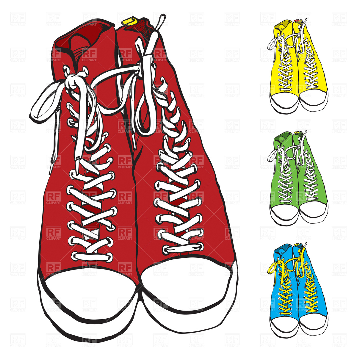 Red Converse Shoes Clipart