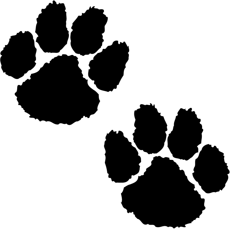 tiger tracks clip art - photo #48