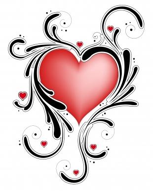 Heart Tattoo Designs Swirls  Heart Tattoos