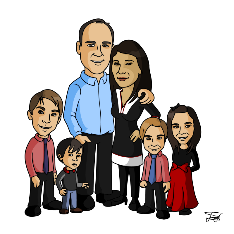 Caricatures From Photo's - Caricature Gifts - Unique Caricatures ...
