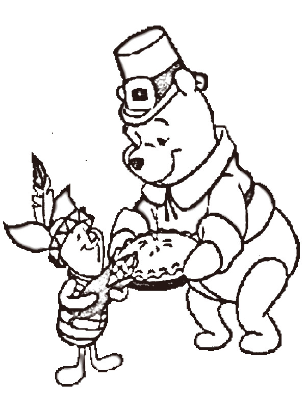 Coloring Pages Thanksgiving Disney : Cute turkey clip art cliparts
