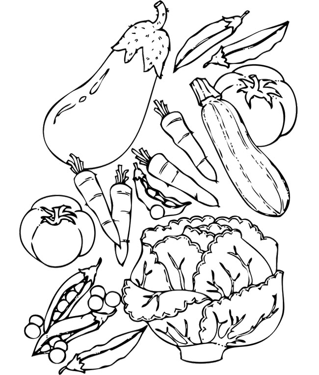 ... Coloring Pages : Healthy Food Fruit And Vegetables ... - Cliparts.co