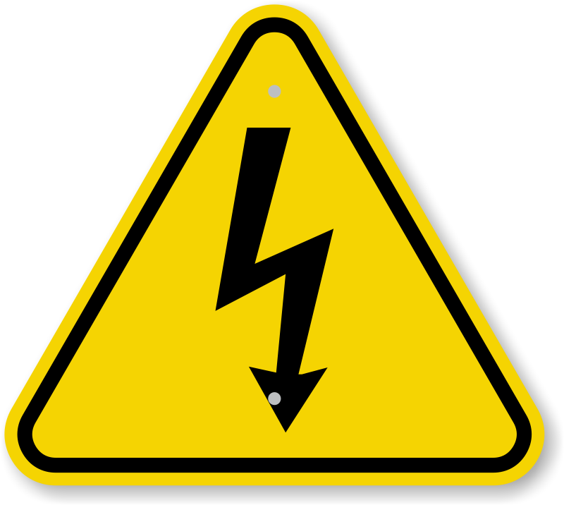 ISO Electrical Shock - Electrocution Warning Sign Symbol, SKU: IS ...