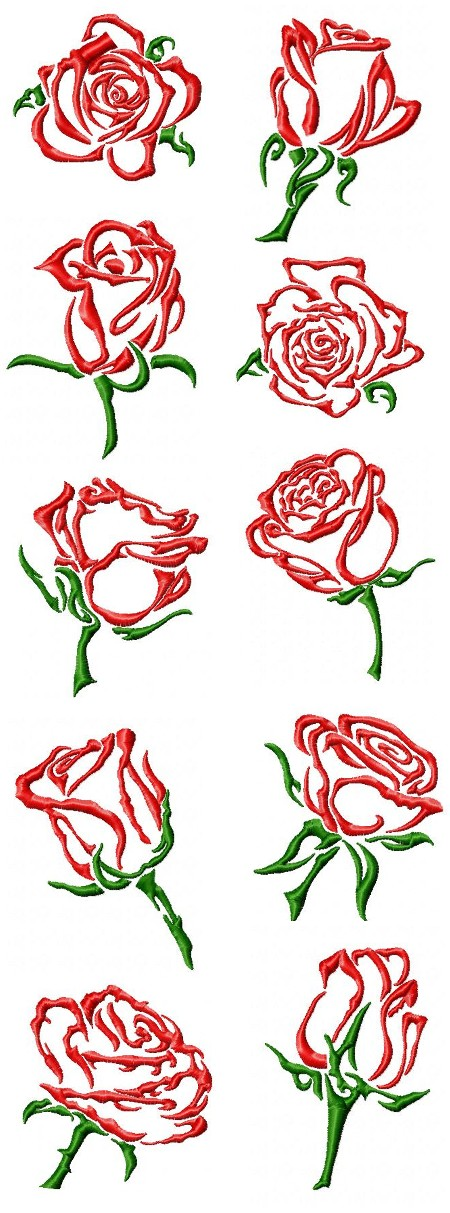 Roses are Red, My Love by Northwind Designs NWD177 [EPB1027 ...