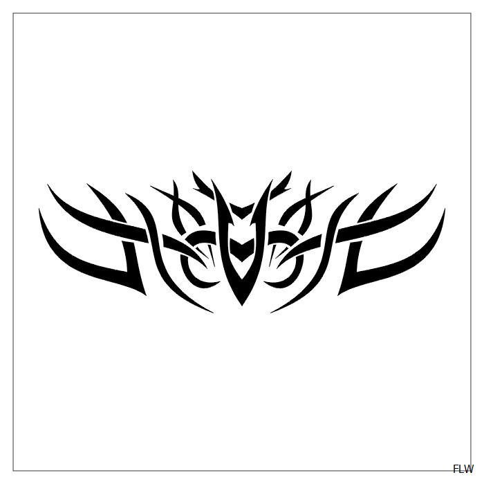 Tribal Heart With Banner Heart Tattoos W...