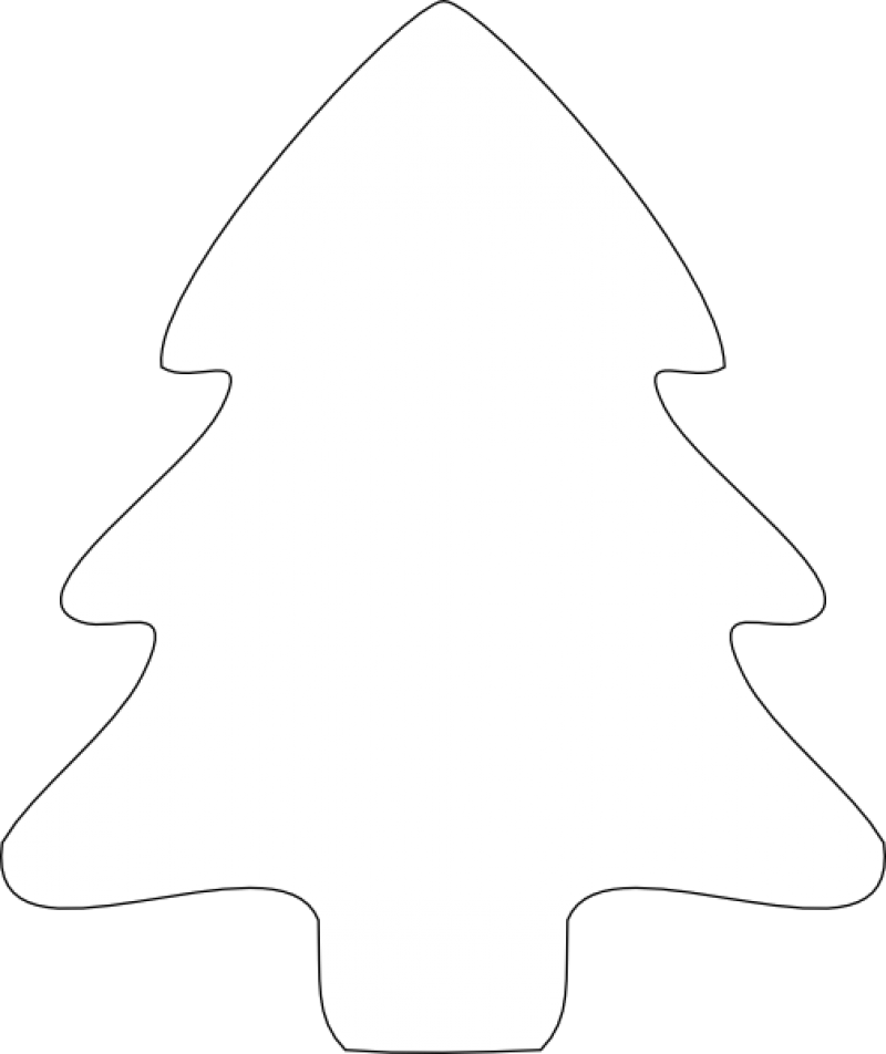 Christmas Tree Outlines - Cliparts.co