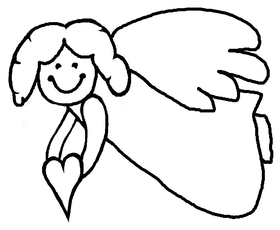 printable detailed angel coloring pages - photo#29