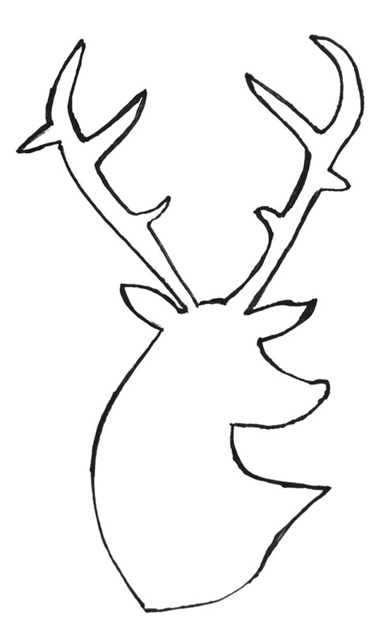 Deer Head Outline Cake Ideas and Designs