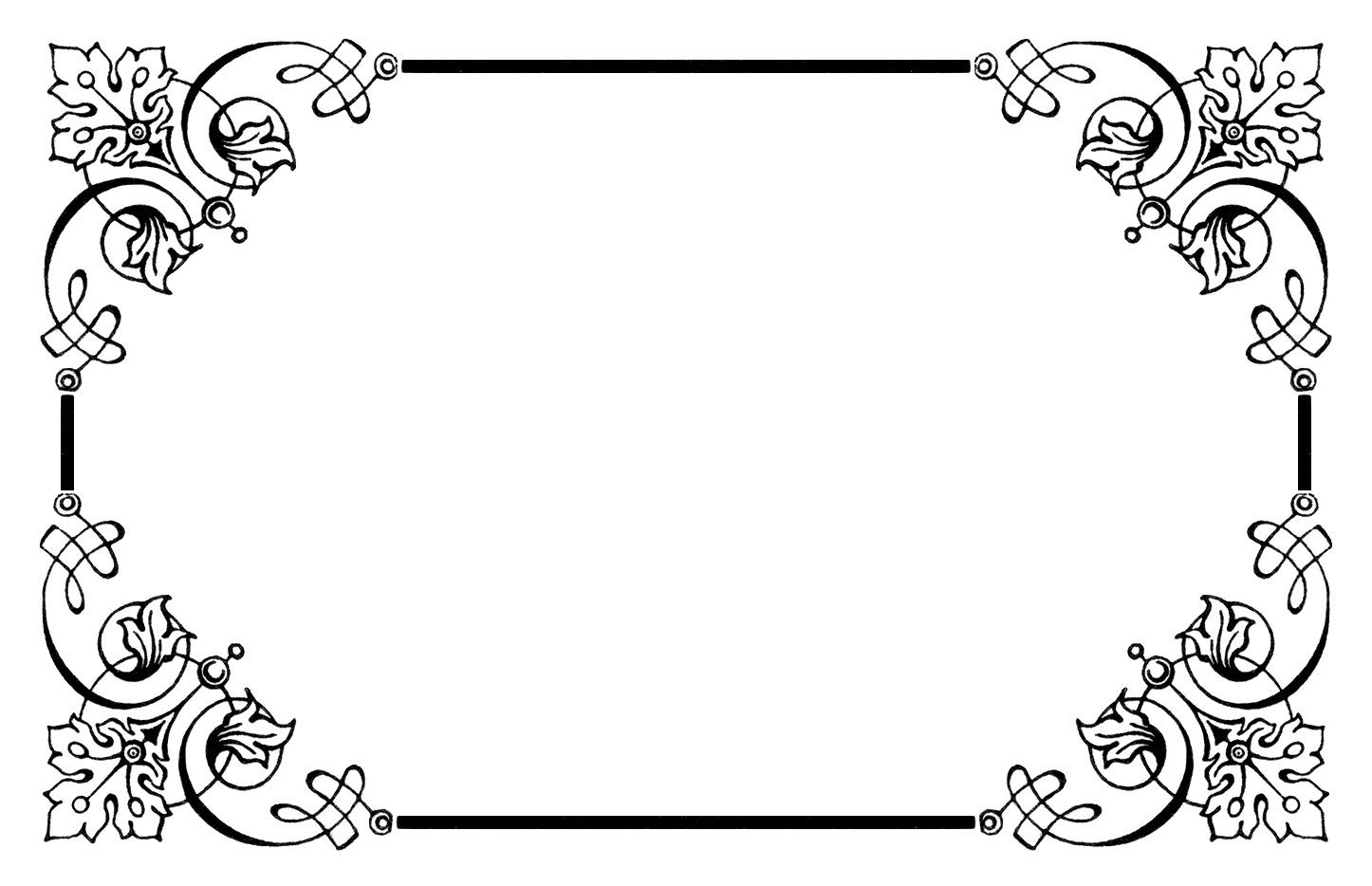 Fancy Frame Clip Art Black And White | Clipart Panda ...