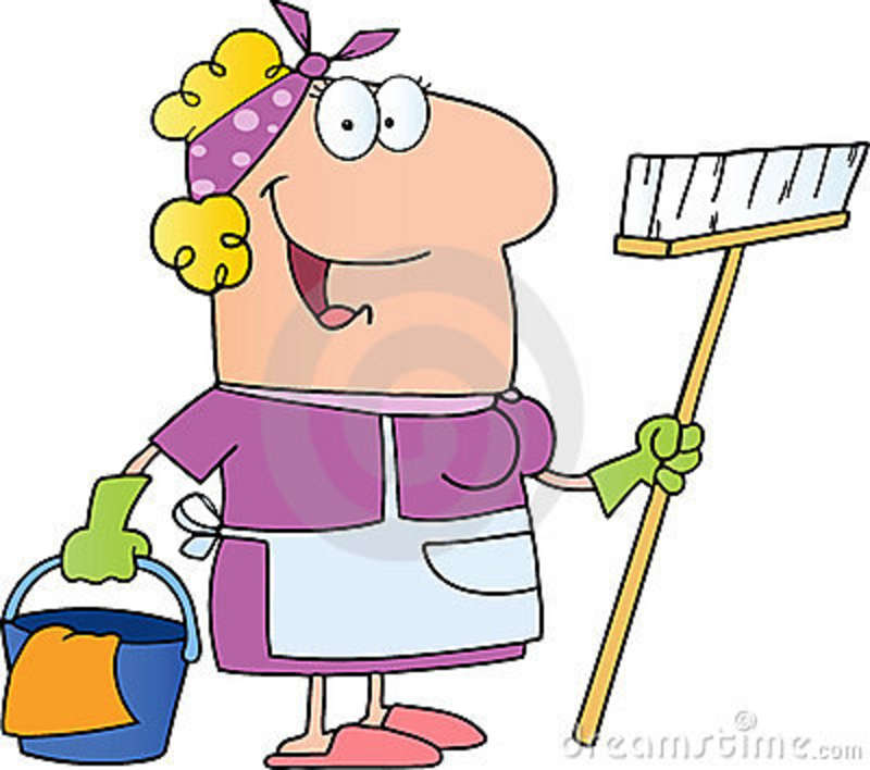 Cartoon Cleaning Lady - Cliparts.co