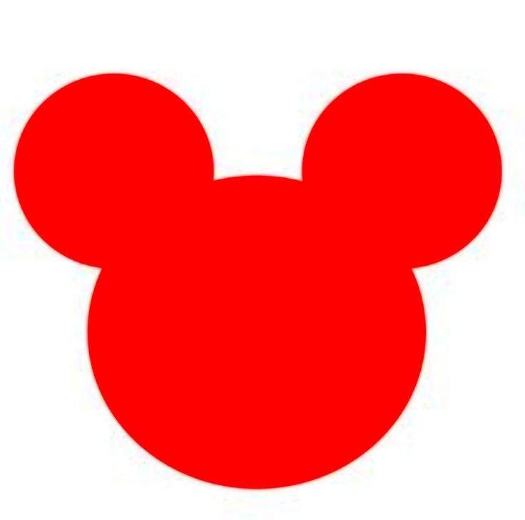 Mickey Mouse Red Silhouette | Minnie ♡ Mickey | Pinterest