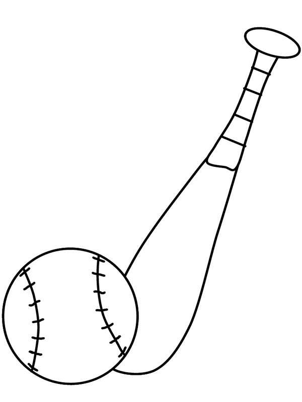 coloring pages of baseball bats - photo#23