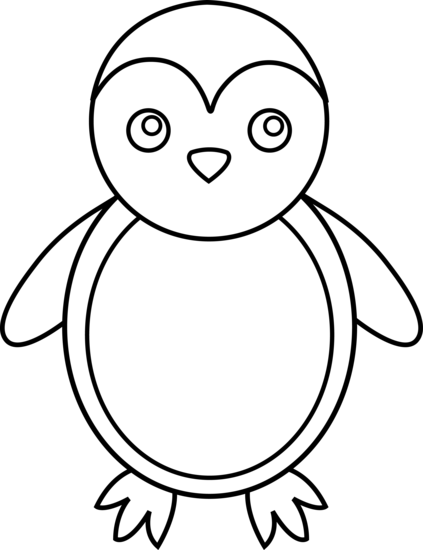 Line Drawings Of Baby Animals : Penguin pictures free cliparts