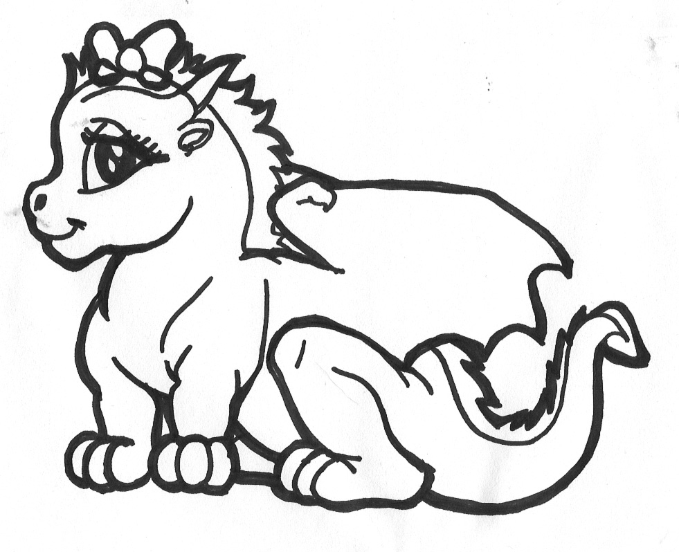 Baby dragon tattoo for Cute baby dragon coloring pages