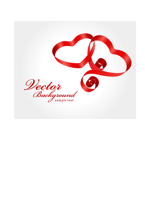 Valentine day gift ribbon and clip art Free Vector / 4Vector