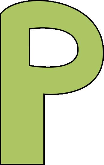 Green Letter P Clip Art - Green Letter P Image