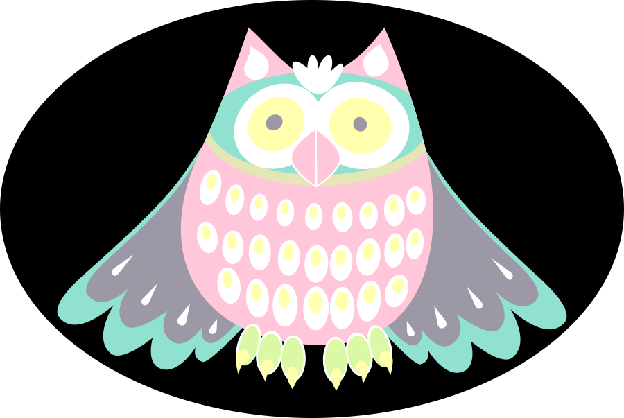 colorful cute owl vector - photo #38