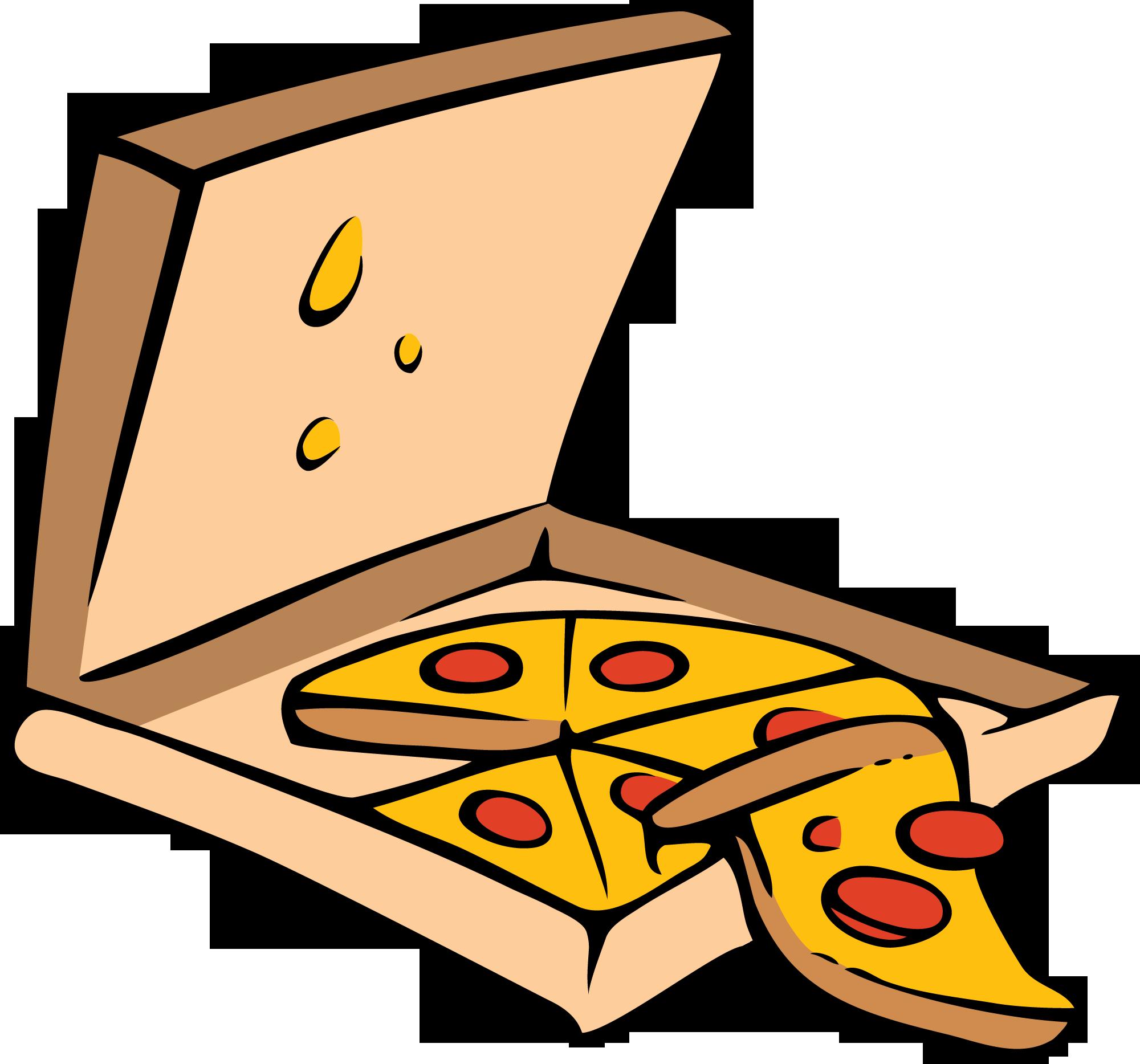 cartoon eating pizza clipartsco