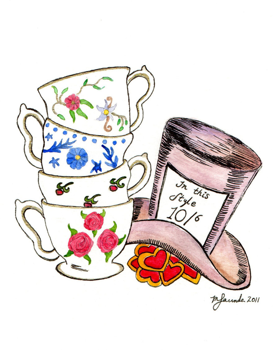 mad hatter tea party clip art - photo #1