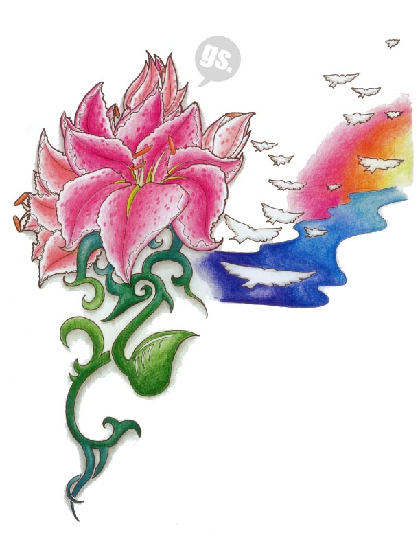 Lily Tattoos and Designs : Page 36