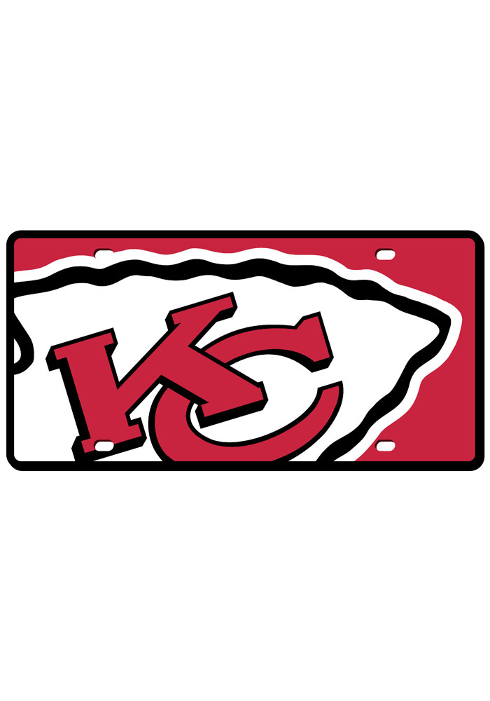 Kansas City Chiefs License Plate- KC Chiefs Mega Logo License Tag