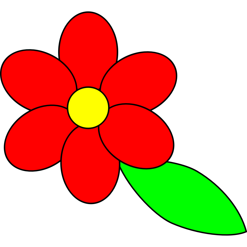 flower leaf clipart - photo #9