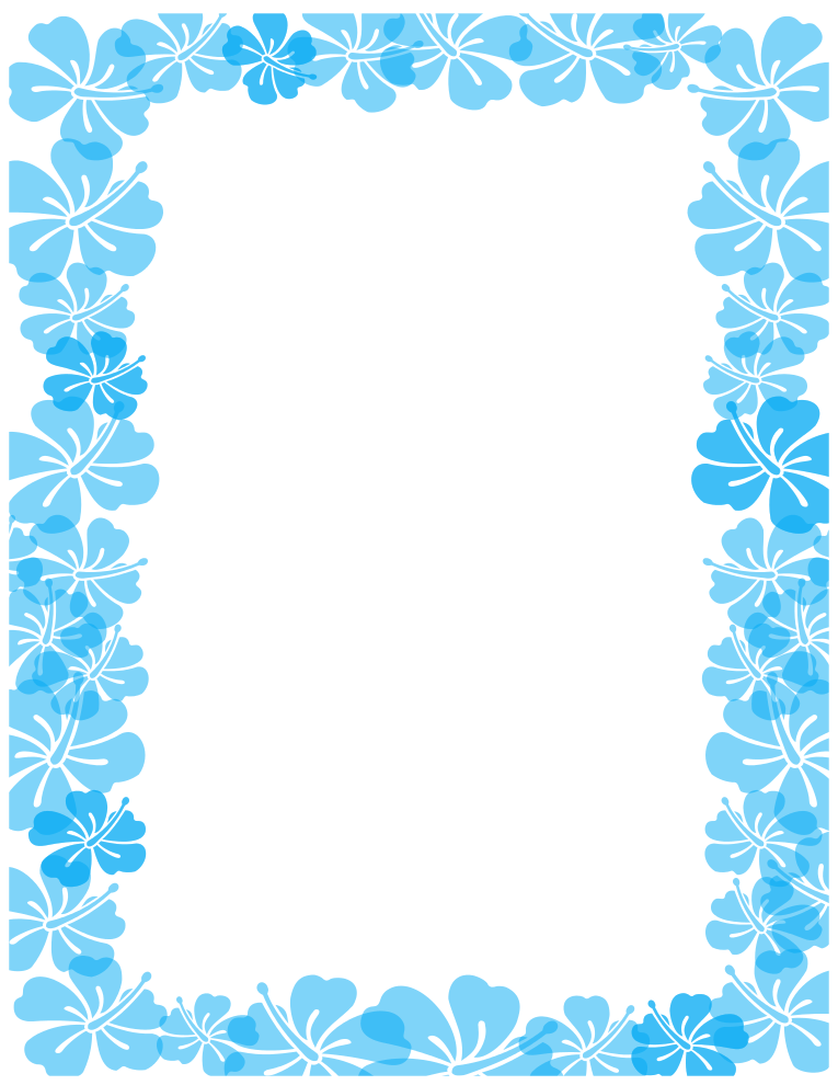 hawaiian clip art borders clipartsco