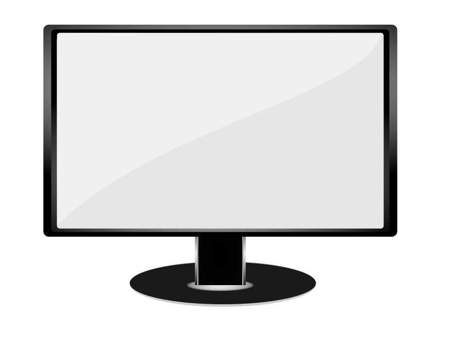 Tv Screen Clipart Black And White | Clipart Panda - Free Clipart ...