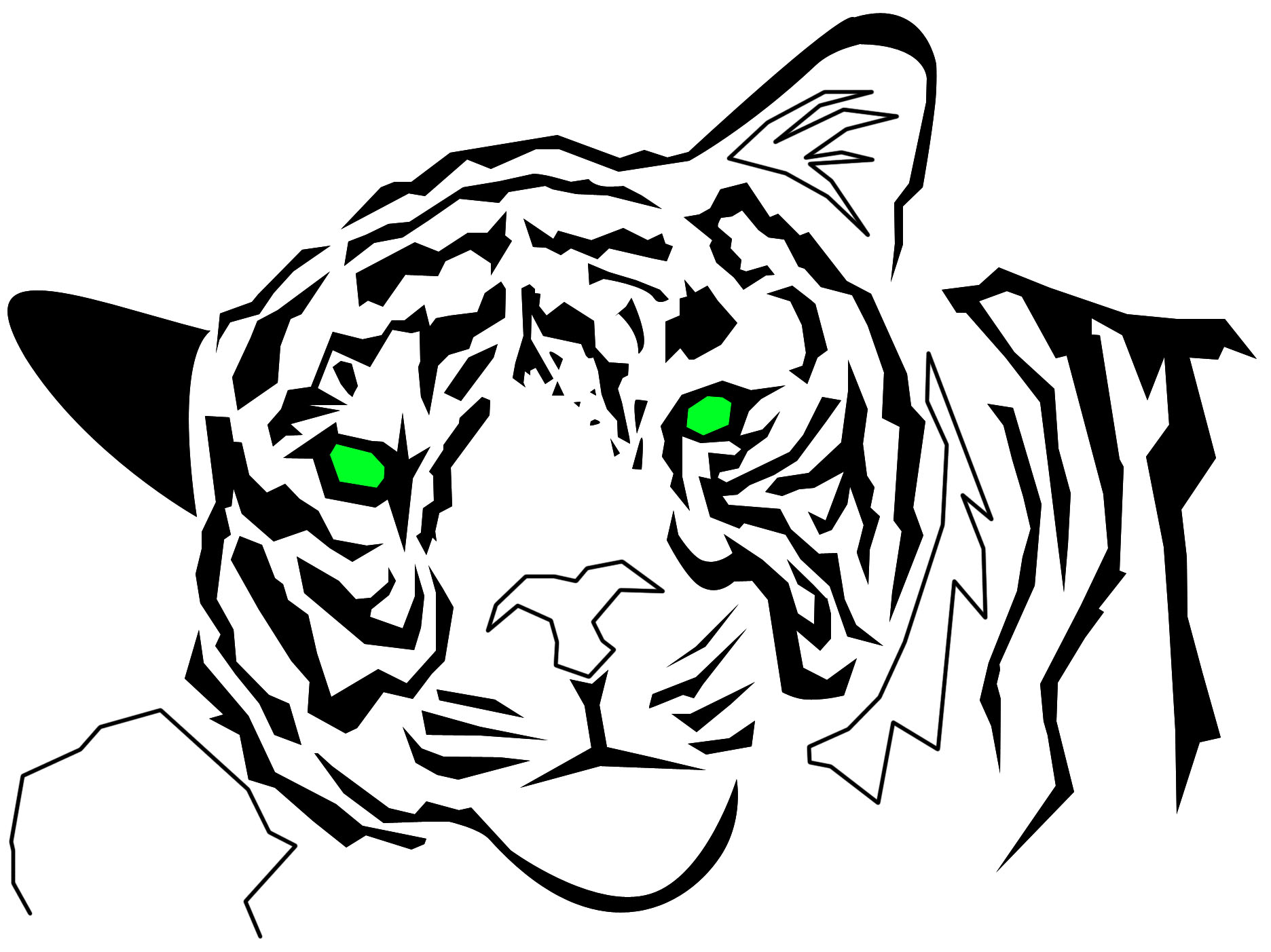 Images For > Tiger Eyes Tribal - Cliparts.co