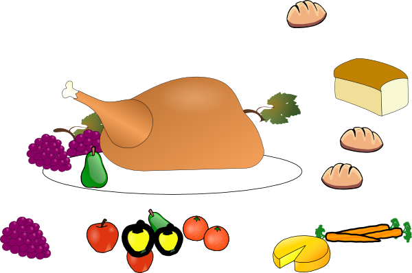 Images Of Thanksgiving Dinner - Cliparts.co