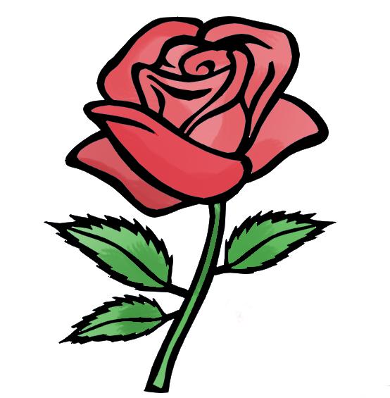 Roses cartoon for Drawings of cartoon flowers
