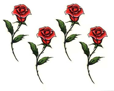 Long stem rose tattoos for Rose with stem tattoo designs