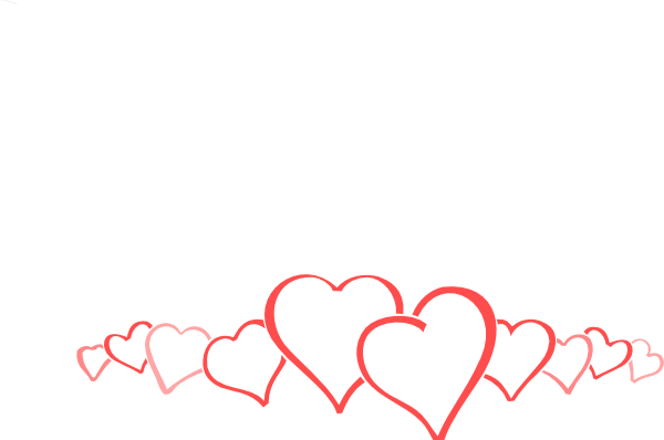 Wedding Hearts Clipart Wedding Heart Border C...