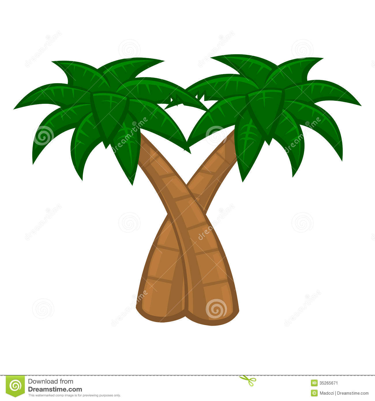 Coconut Tree Animated - Cliparts.co