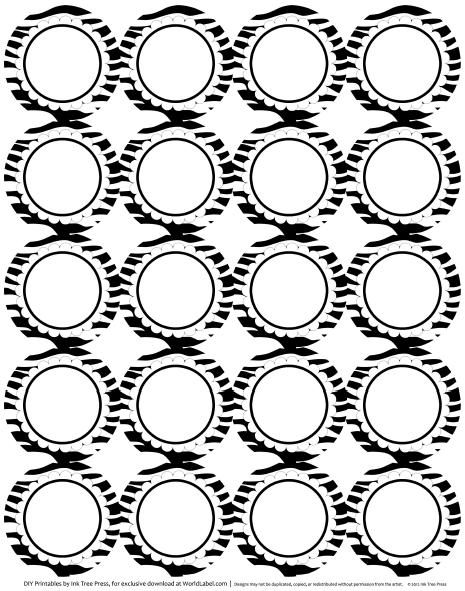 Zebra Print Stencil Printable