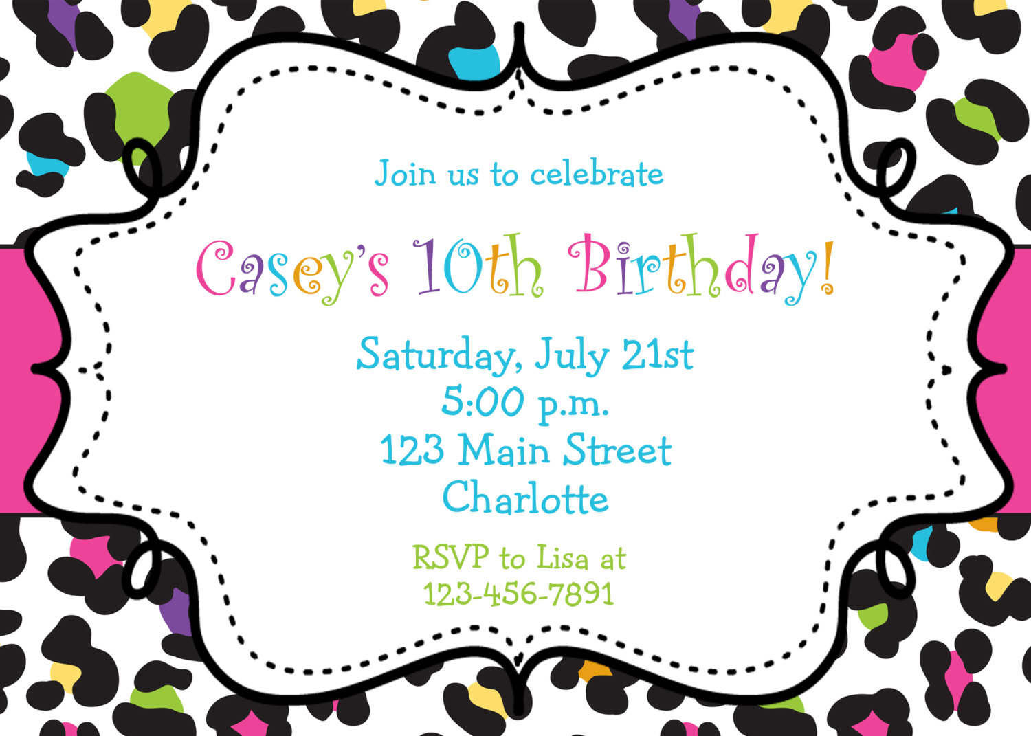 free printable birthday invitations templates for 28 images – Template for Birthday Invitations
